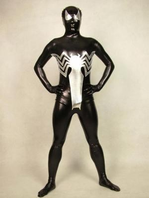 Venom Eddie Brock Shiny Black Spiderman Costume