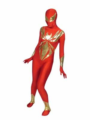 Red and Golden Spider women Costume