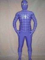 Purple Full Body Spandex Spiderman Costume