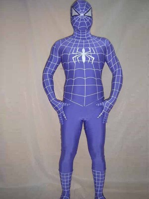 Purple Full Body Spandex Spiderman Costume