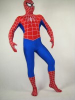 White-Stripe Red And Blue Spiderman Costume