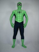 Green And Black Spiderman Costume Full Body Spiderman Costume
