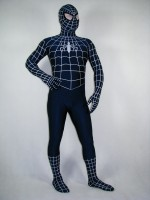 Blue And White Spiderman Costume Lycra Spandex Spiderman Costume