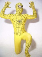 Yellow Spiderman Costume Outfit