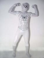 White Spiderman Costume With Black Stripe