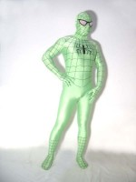 Lycra Spandex Green Spiderman Costume Outfit