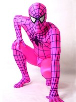 Pink Spiderman Costume with Black Spider