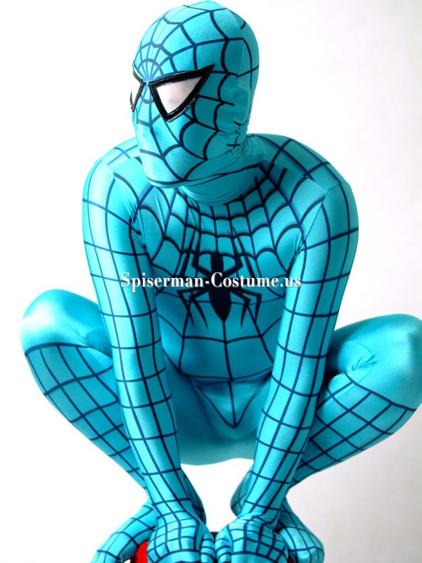 Blue And Black Spiderman Costume  sc 1 st  Spiderman costume & Blue Spiderman Costumes