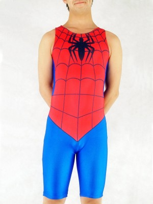 Short Blue And Red Spiderman Costume