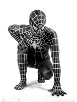 Black White Spiderman Costume very Classic Black Spiderman Costume